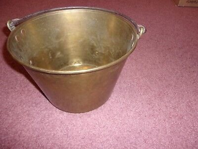 Vintage Ansonia Brass Bucket With Handle