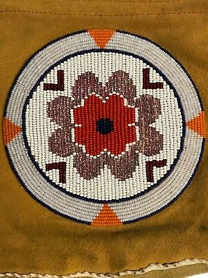 """Cree Native American beaded purse 10""""X8"""" Ext. 1970  EXCELLENT VINTAGE CONDITION"""