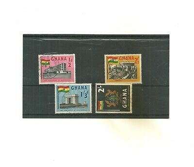 Ghana set 4 used stamps before 1970