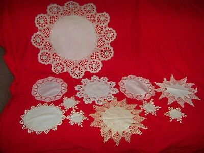 11 vintage & Modern Lace Crochet doiles Some Unsual