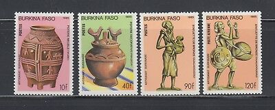 BURKINA 1985 Artifacts Scott 739-742 Complete Mint Never Hinged