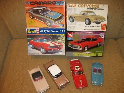 Vintage Mixed LOT of 1/25 Chevy Kits and Built-Ups, VERY NICE!