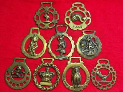 Selection of Vintage Cast Horse Brasses ~ See Individual Photos ~ UK Post Free