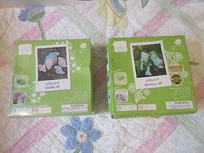 2x The Little Experience sewing craft kit birdie & horse New