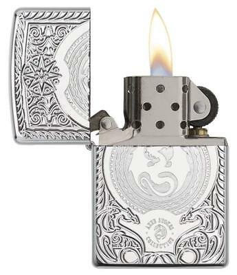 Zippo Anne Stokes Armor Windproof Lighter High Polished Chrome New