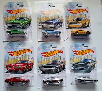 Hot Wheels 2019 DETROIT MUSCLE CARS Set of 6  - SAME DAY FREE SHIPPING