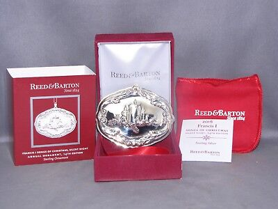 Sterling Silver Reed & Barton Francis I Christmas Ornament Silent Night 14Th Ed.