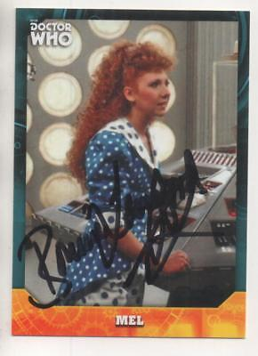 """Dr Who Signature Trading Card No.95 Auto by Bonnie Langford """"Mel"""""""