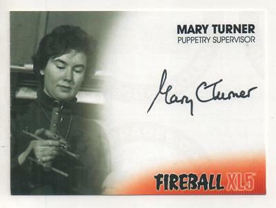 """Fireball XL5 Anderson Auto Trading Card No.MT1 Mary Turner """"Puppetry Supervisor"""""""