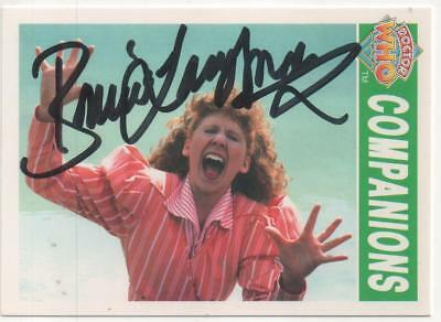 """Dr Who Cornerstone Trading Card No.83 Auto by Bonnie Langford """"Mel"""""""