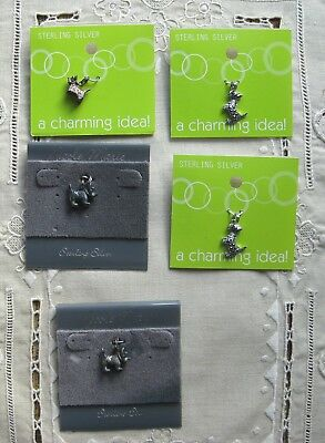 5 Sterling Silver Scottie Dog Charms
