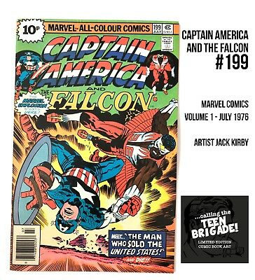 Captain America And The Falcon #199 July 1976 Marvel Comics Uk Pence Edition