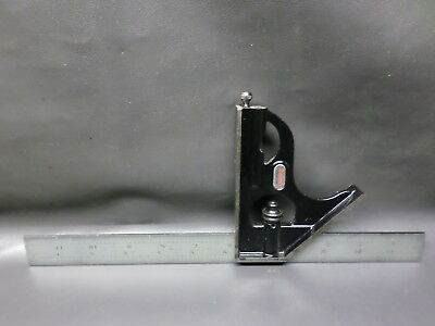 L.s. Starrett Machinist  Combination Square No. 4 R Grad - W/ Level & Scribe
