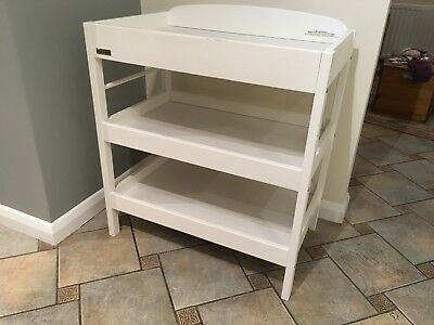 East Coast white wood Baby / Toddler Changing table with shelves for storage