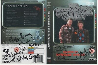 Hitchhiker's Guide Galaxy DVD Cover Auto by 13 People