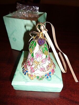 """""""Victorian Treasures"""" HAND CRAFTED ENAMELED BELL Copper Base & Plated 24k Gold S"""