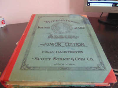 "Lot of 2 antique ""Junior"" stamps albums with many stamps (circa 1930's)"