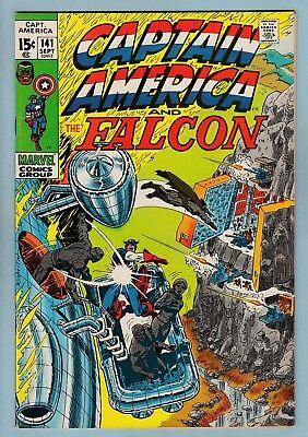 Captain America # 141 Vfnm (9.0)  Falcon - Glossy High Grade Cents Copy - 1971