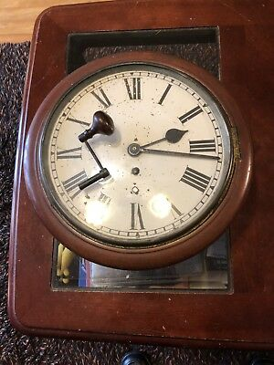 "Antique Fusee Wall Clock With 10"" Dial"