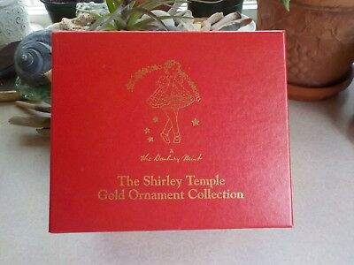 The Danbury Mint Shirley Temple Gold Ornament Collection w/ Box