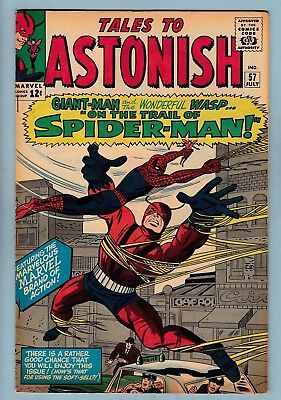 Tales To Astonish # 57 Fn (6.0) Early Spider-Man App.- Giant Man_Wasp_Cents_1964