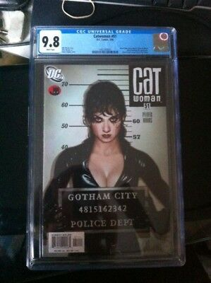 Catwoman 51 Cgc 9.8 White Pages Adam Hughes Lost Cover
