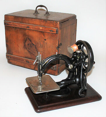 English Willcox & Gibbs Sewing Machine with Case c. 1877