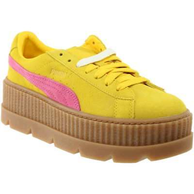 8e1d848bc5935d Puma Fenty by Rihanna Suede Cleated Creeper Sneakers - Yellow - Womens
