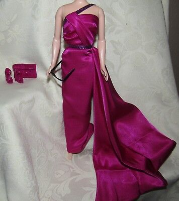 Barbie Marilyn Monroe How To Marry A Millionaire Magenta Gown Dress Shoes Lot