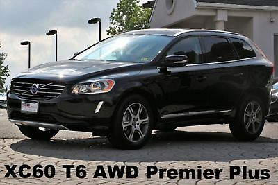 2015 Volvo XC60 T6 Premier Plus AWD 2015 Auto V6 300HP AWD Panorama Roof Rear View Camera Blind Spot Black Like New