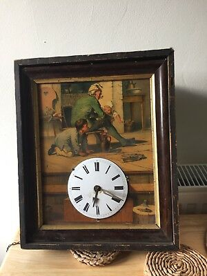 Antique Picture Wall Clock
