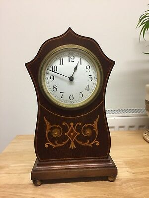Antique Inlaid  French  Mechanical Mantle Clock