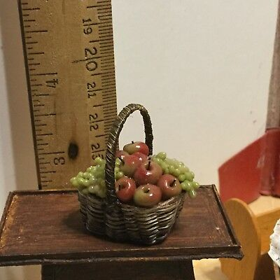 Artist made fruit basket,VGC