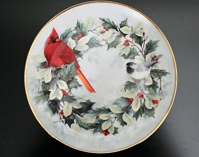 Franklin Mint Limited Edition Cardinal Plate HOLIDAY CHORUS