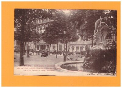"""TARBES (65) ATTELAGES aux HOTEL & FONTAINE MONUMENTALE """"L'INONDATION"""" vers 1920"""