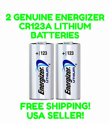 2 Energizer 123 CR123A Batteries EXP 2028 Lithium 3V Photo Battery DL123 SF123A
