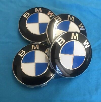 BMW 68MM Alloy Wheel Centre Caps Hub Emblem For 1 2 3 4 5 6 7 8 M X Z Series