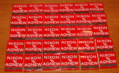 Vintage 30 Nixon Agnew Matchbooks 30 Matches In Each