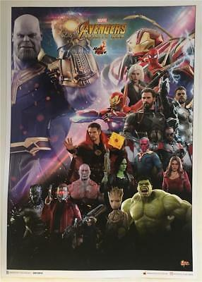 Sdcc 2018 Marvel Avengers Infinity War Hot Toyz Promo Poster Comic-Con Exclusive