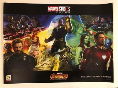 Sdcc 2018 Marvel Studios Avengers Infinity War Thanos Promo Poster Exclusive
