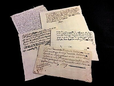LOT OF FIVE DOCUMENTS 1600s