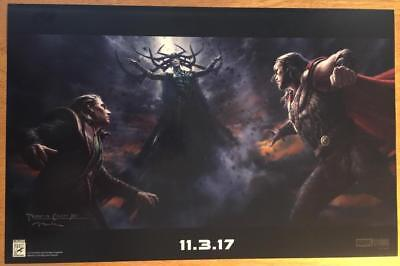 Sdcc 2017 Marvel Thor Ragnarok Movie Concept Art Poster Chris Hemsworth Loki