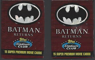 2 Packs Batman Returns ~ Topps Stadium Club Movie Cards