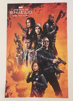 Sdcc Marvel Agents Of Shield Exclusive Promo Poster Comic-Con Coulson Skye