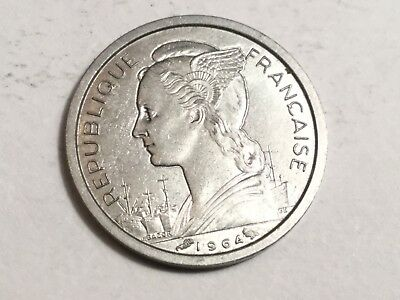 REUNION 1964 1 Franc coin uncirculated