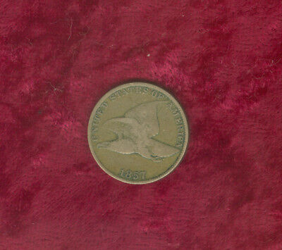 1857 Flying Eagle Cent in Fine