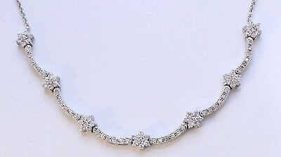 Very Nice Vintage Sterling Silver 925 & Cubic Zirconia Necklace