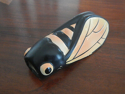 Vintage  Locust Cicada Wall Pocket Vase NICE from FRANCE Brings LUCK & HAPPINESS