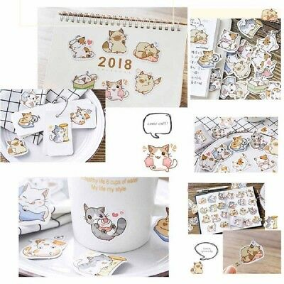 45Pcs Japanese Cute Cat Stickers Lot DIY Scrapbooking Diary Decoration Stickers