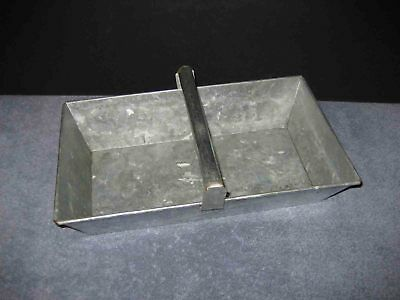 Rustic Vintage Galvanized Metal Handled Tray Garden Tools Excellent Condition